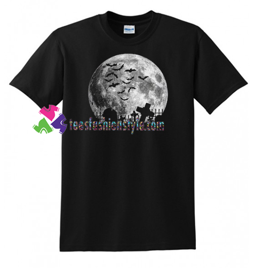 Halloween T Shirt, Full Moon, American Apparel Crew Neck, Halloween Costume Shirt gift tees unisex adult cool tee shirts