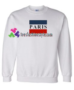 Paris Striped Flag Sweatshirt Gift sweater adult unisex cool tee shirts