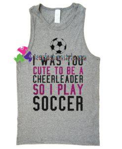 Soccer TankTop gift tanktop shirt unisex custom clothing Size S-3XL