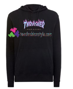 Thrasher blue Hoodie gift cool tee shirts cool tee shirts for guys