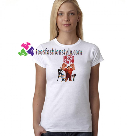2018 Filme Ralph Quebra a Internet wreck-It Ralph 2 T Shirt Women Shirt Movie Shirt gift tees unisex adult cool tee shirts