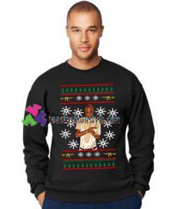 Christmas Tupac Sweatshirt Tupac Shakur Sweatshirt Gift sweater adult unisex cool tee shirts