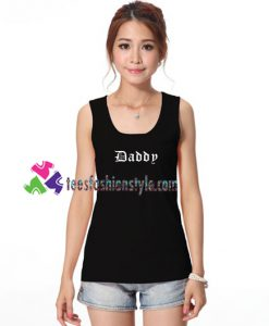Daddy TankTop gift tanktop shirt unisex custom clothing Size S-3XL