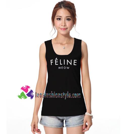 Feline Meow Tanktop Ariana Grande Tanktop Gift Tanktop Shirt Unisex Custom Clothing Size S 3xl