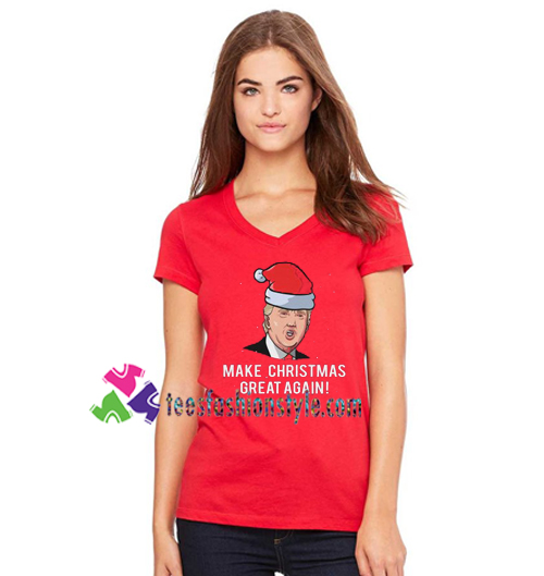 a7812d11d Funny Make Christmas Great Again Santa Claus Donald Trump Shirt, Fun  Political Xmas Shirt gift tees ...