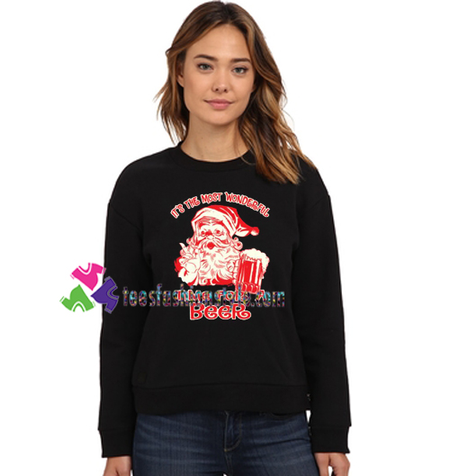 Beer Christmas Sweater.It S The Most Wonderful Time For A Beer Sweatshirt Funny Christmas Sweaters Gift Sweater Adult Unisex Cool Tee Shirts