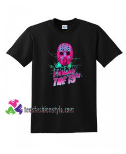 FRIDAY THE 13TH Neon Parody TShirt Funny tee shirts
