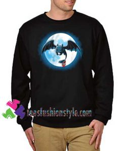 Toothlees night fury Sweatshirt how to train your dragon, Sweatshirt Gift sweater adult unisex cool tee shirts