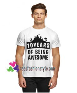 10th Birthday, Countdown, Of Being Awesome, Girls and Boys Shirt Youth
