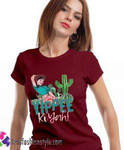 Cowgirl, Yippee Ki Yah, Cactus, Women's, Farm