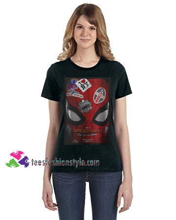 Spiderman far from home Logo Tom Holland tee shirts