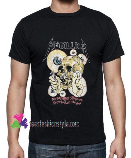 1988 Metallica Shortest Straw Vintage Tour Band Rock