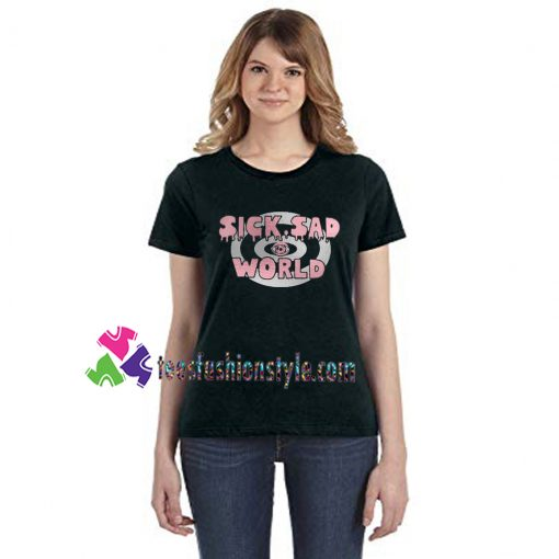 SICK SAD WORLD, Rose Gold, Silver Vinyl, Daria inspired tee shirts