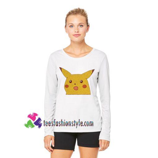 Surpised Pikachu Meme Longsleeve Pokemon Fan Art