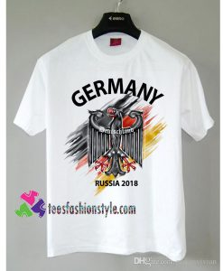 Germany Deutschland Flag Eagle Euro Russia 2018 Football tee shirts