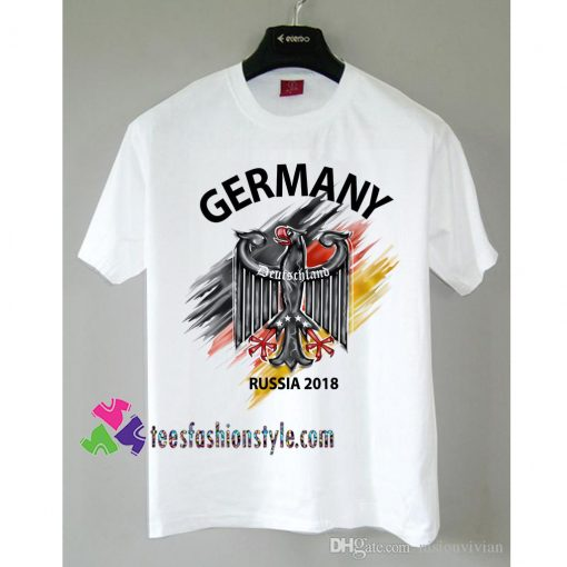 Germany Deutschland Flag Eagle Euro Russia 2018 Football tee shirts