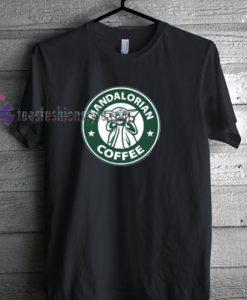 Starbucks and Baby Yoda Inspired Mandalorian Coffee starwars tshirt by teesfashionstyle.com