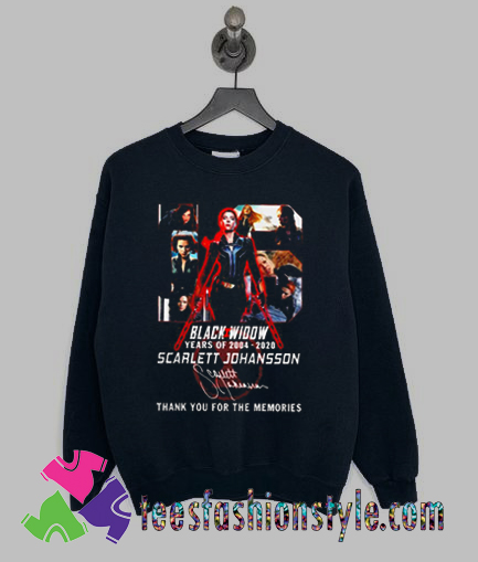 Black Widow 2020 thank you for the memories Sweatshirts