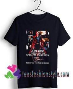 Black Widow 2020 Scarlett Johansson thank you for the memories T shirt