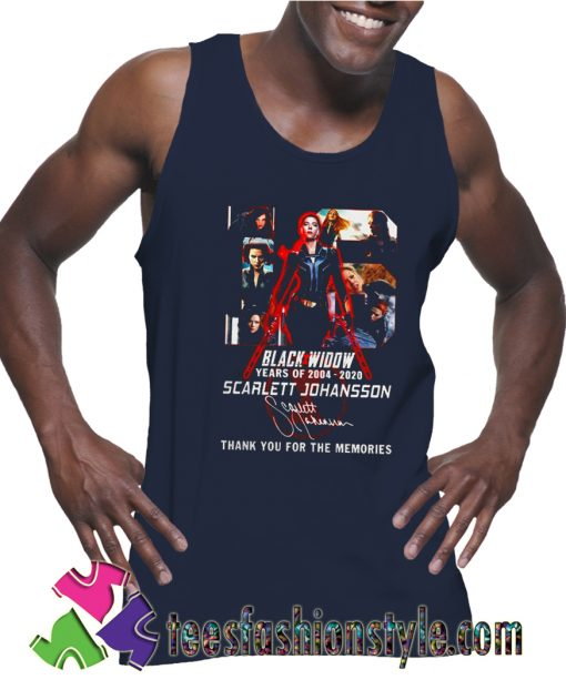Black Widow 2020 thank you for the memories Tank Top