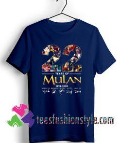 22 years of Mulan Movie 1998-2020 signatures T shirt For Unisex