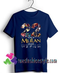 22 years of Mulan Movie 1998-2020 signatures T shirt For Unisex