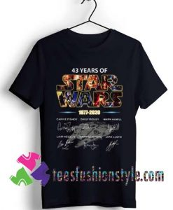 43 years of Star Wars 1977 2020 signature T shirt