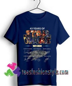 43 years of Star Wars 1977 2020 signature T shirt