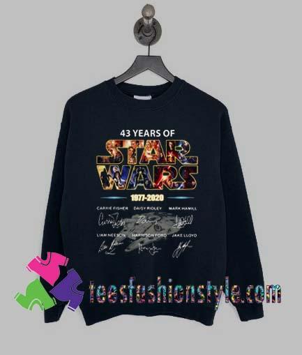 Star Wars 1977 2020 signature Sweatshirts