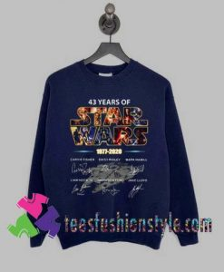 Star Wars 1977 2020 signature Sweatshirts