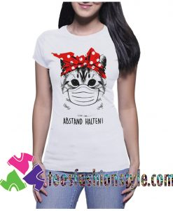 cat with mask tee shirt