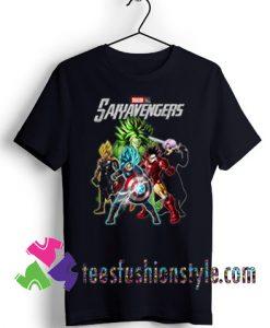 Avengers Dragon Ball Saiyavengers T shirt For Unisex