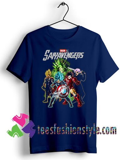 Avengers Dragon Ball Saiyavengers T shirt For Unisex