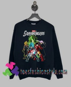 Avengers Dragon Ball Saiyavengers Sweatshirts By Teesfashionstyle.com