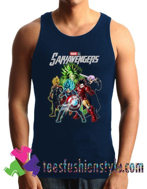 Avengers Dragon Ball Saiyavengers Tank Top For Unisex