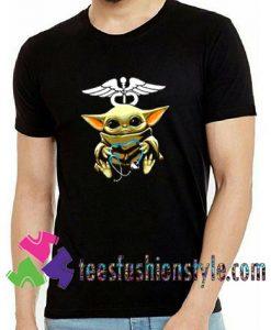 Cute Hug Nurse Baby Yoda 2020 T shirt For Unisex