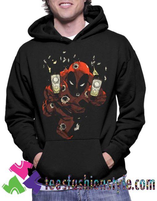 Marvel Comics Deadpool Empty Clips Unisex Hoodie