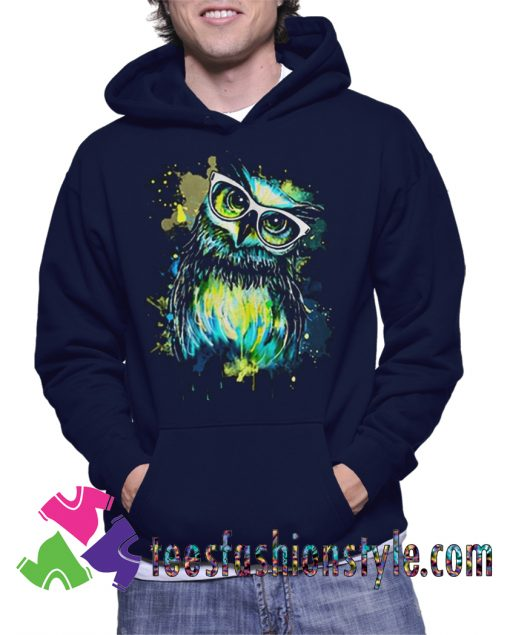 Owl Watercolor Unisex Hoodie By Teesfashionstyle.com