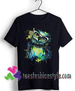 Owl Watercolor T shirt For Unisex By Teesfashionstyle.com