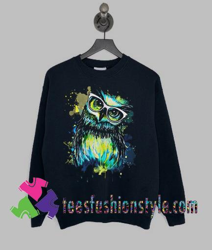 Owl Watercolor Sweatshirts By Teesfashionstyle.com