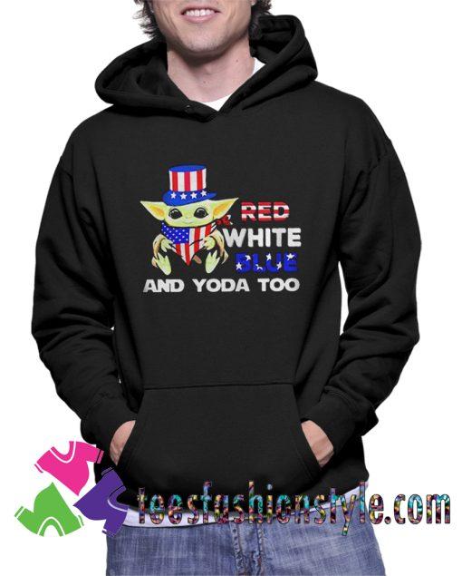 Baby Yoda Too American Hoodie