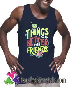Spongebob Movie Sponge on The Run Tank Top For Unisex