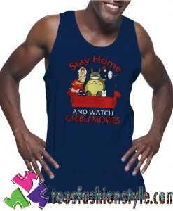 Stay home and watch Ghibli movies Tank Top For Unisex
