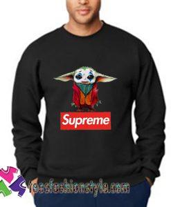 Supreme joker Baby Yoda Sweatshirts tee shirts