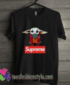 Supreme joker Baby Yoda T shirt For Unisex