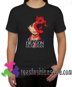 The Girl With The Dragon Guardian Mulan And Mushu Tattoo T shirt For Unisex