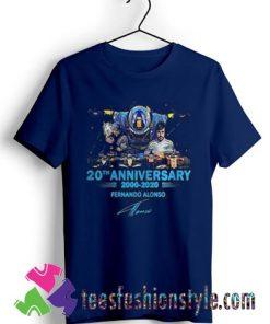 20th Anniversary 2000 2020 Fernando Alonso Signature T shirt