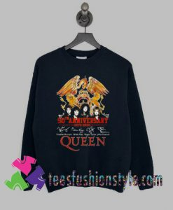50th anniversary 1970 2020 signature Queen Sweatshirts