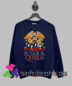 50th anniversary 1970 2020 signature Queen Sweatshirts