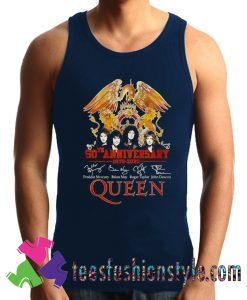 50th anniversary 1970 2020 signature Queen Tank Top